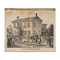 Image: Mr. Lincoln. Residence and Horse.
