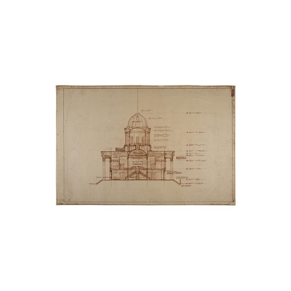 Image: Illinois State Capitol Rennovation blueprints