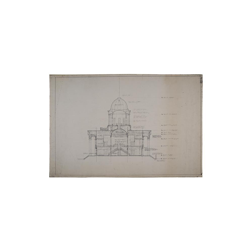 Image: Illinois State Capitol Restoration blueprints