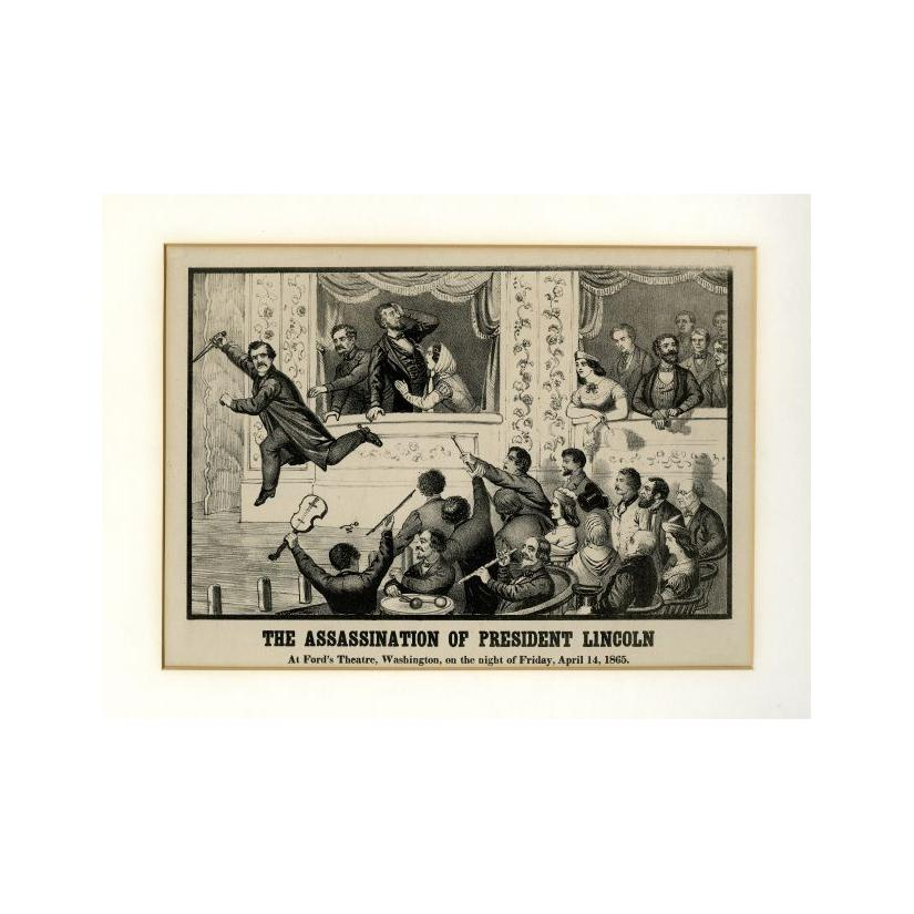 Image: The Assassination of President Lincoln at Ford's Theatre, Washington, on the night of Friday, April 14, 1865