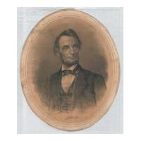 Image: Oval Print of Lincoln
