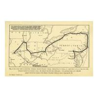 Image: Map of the Route of the Abraham Lincoln Funeral Cortege