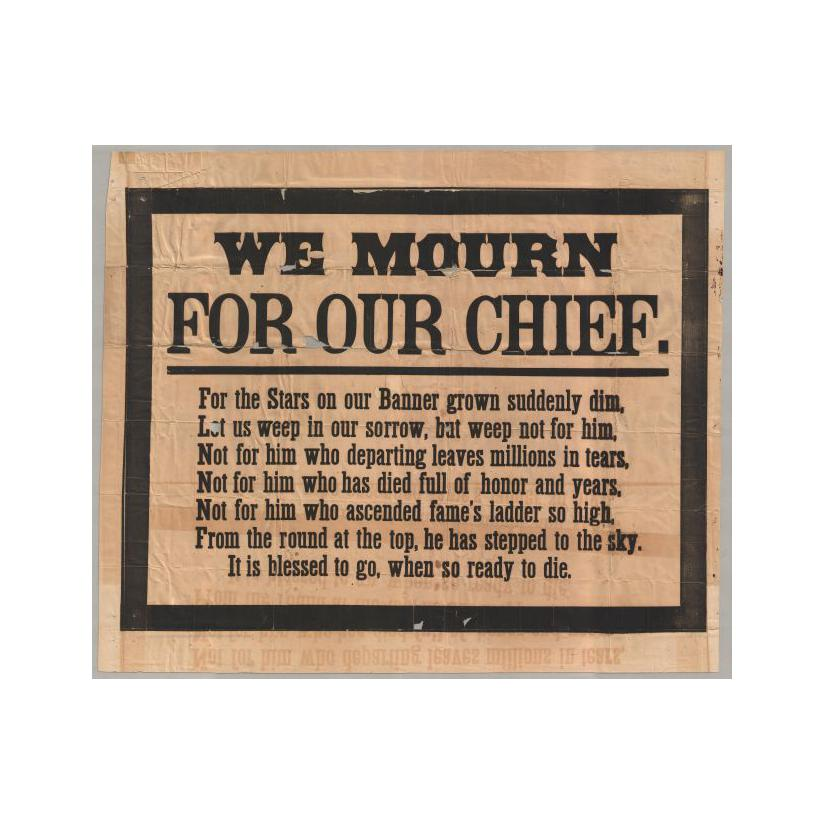 Image: We Mourn for Our Chief