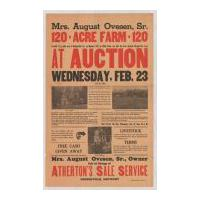 Image: Mrs. August Ovesen, Sr., 120 Acre Farm at Auction