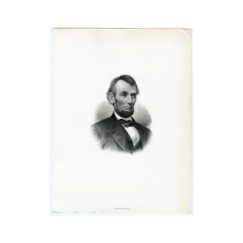 Image: Engraving of Abraham Lincoln