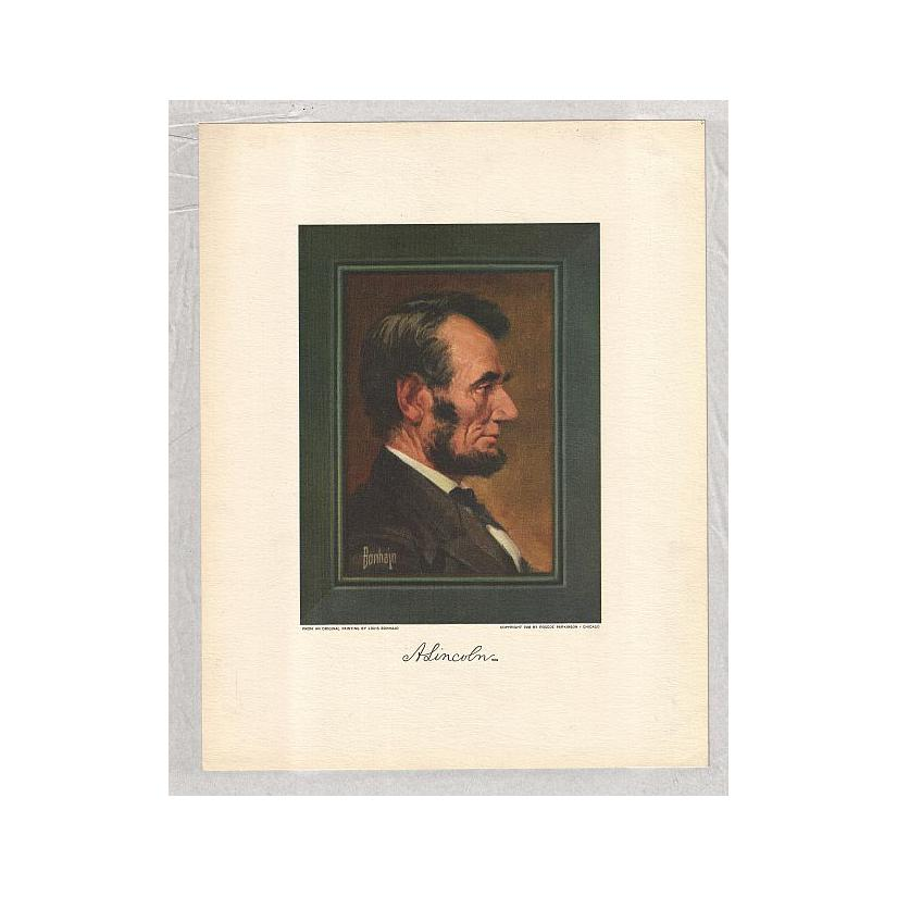 Image: Side Portrait of Lincoln