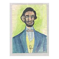 Image: Mixed Media Lincoln Portrait