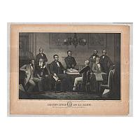 Image: President Lincoln and His Cabinet with General Grant in the Council Chamber