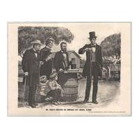 Image: Mr. Lincoln Christens his Namesake City Lincoln, Illinois