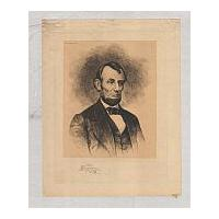 Image: Etching of Lincoln