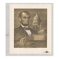 Image: Cabin, Lincoln, and the Capitol Building