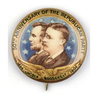 Image: Lincoln-Roosevelt pin