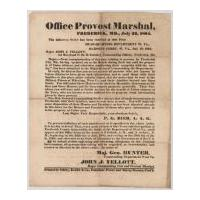 Image: Military Order Concerning Southern Sympathizers in Frederick, Maryland