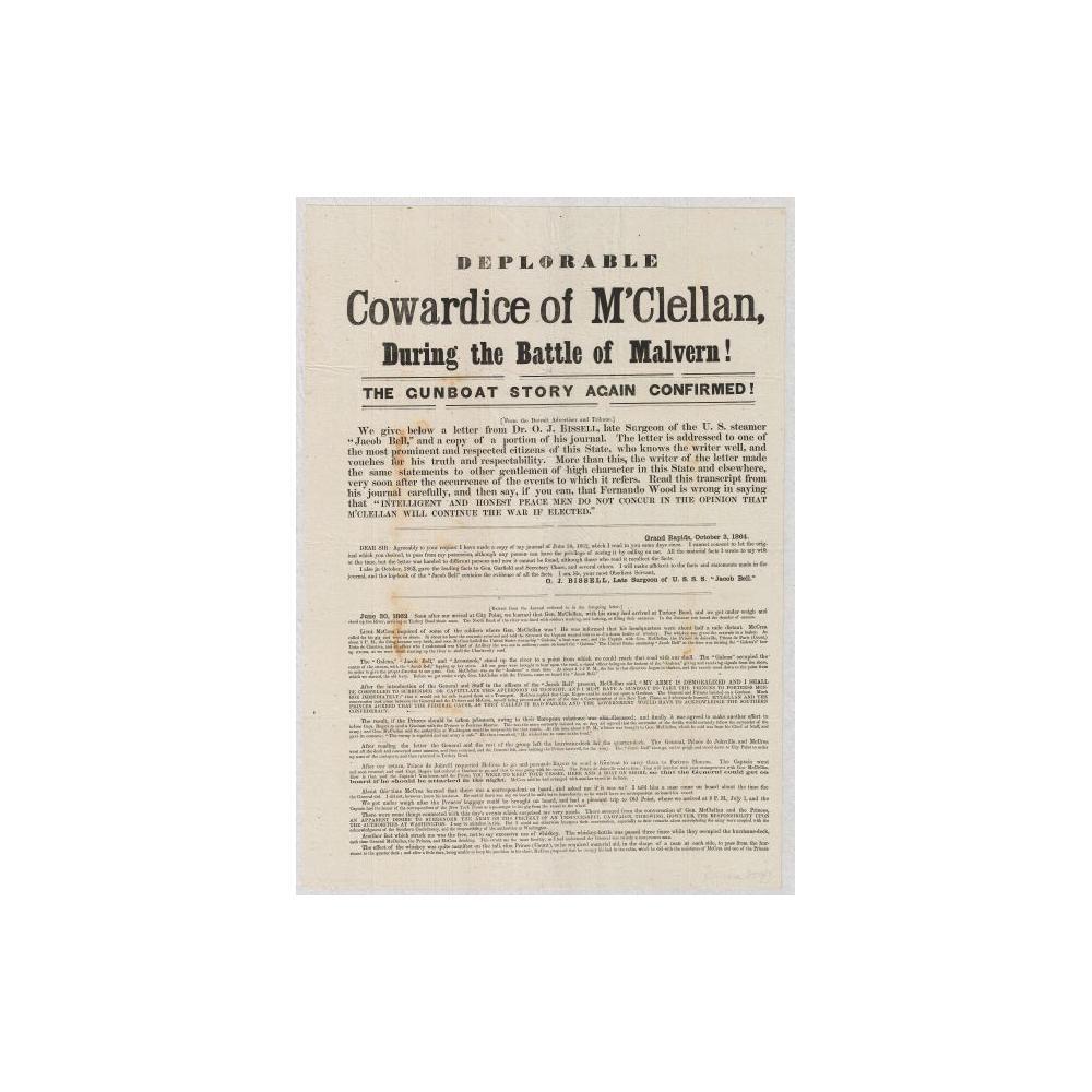 Image: Deplorable Cowardice of M'Clellan During the Battle of Malvern