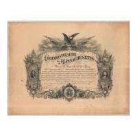 Image: Commonwealth of Massachusetts Certificate Honoring Civil War Soldier Daniel R. Potter