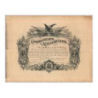 Image: Commonwealth of Massachusetts Certificate Honoring Civil War Soldier John S. McNeal