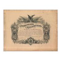 Image: Commonwealth of Massachusetts Certificate Honoring Civil War Soldier Eli Robinson