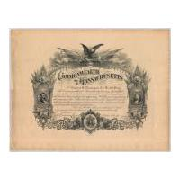 Image: Commonwealth of Massachusetts Certificate Honoring Civil War Soldier Charles A. Nickerson