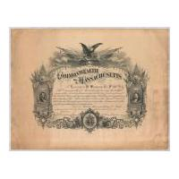 Image: Commonwealth of Massachusetts Certificate Honoring Civil War Soldier Lauriston W. Simmons