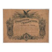 Image: Commonwealth of Massachusetts Certificate Honoring Civil War Soldier George Atkinson