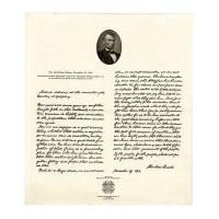 Image: Gettysburg Address print by Veterans of Foreign Wars