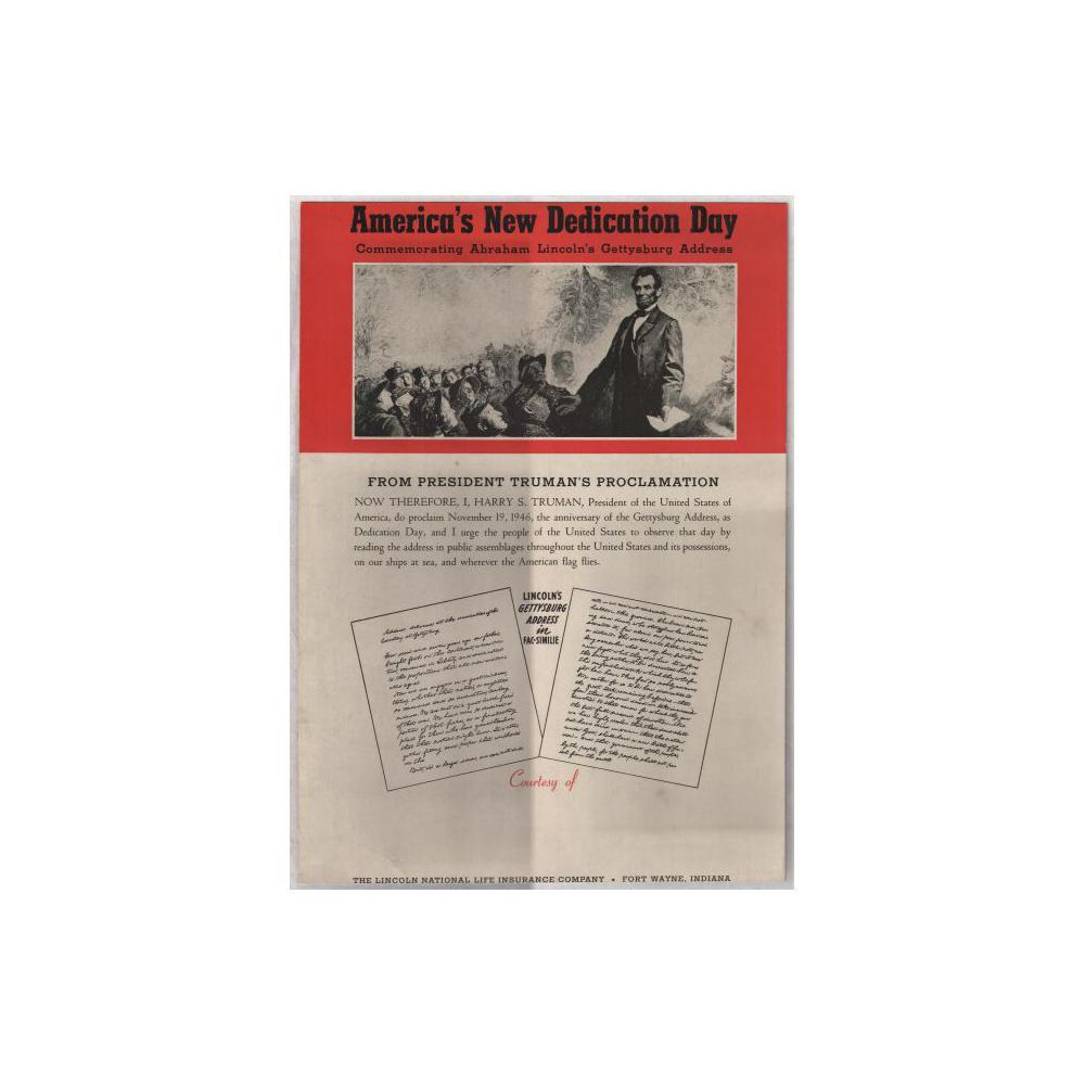 Image: America's New Dedication Day: Commemorating Abraham Lincoln's Gettysburg Address