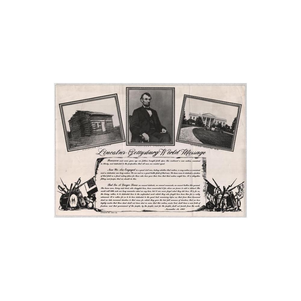 Image: Lincoln's Gettysburg World Address