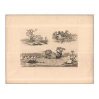 Image: Plate 22: On Picket at the River Bank; Old Saw Mill; and Waiting for Something to Happen