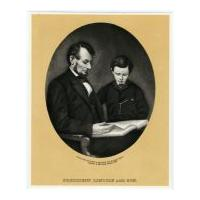Image: President Lincoln and Son