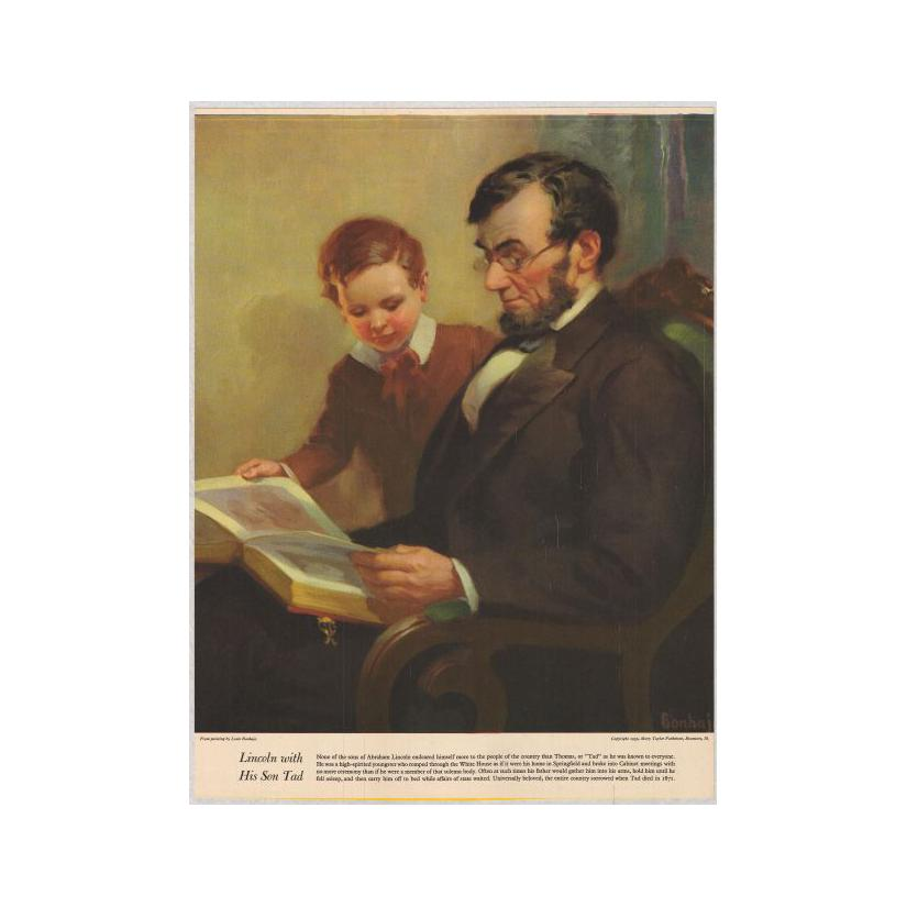 Image: Lincoln with His Son Tad