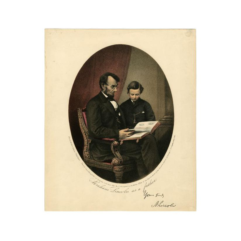 Image: Abraham Lincoln as a father