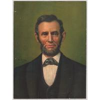 Image: Lincoln Portrait with Green Background