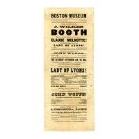 "Image: Boston Museum playbill: ""Lady of Lyons!"""