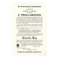 Image: Lincoln Day Proclamation