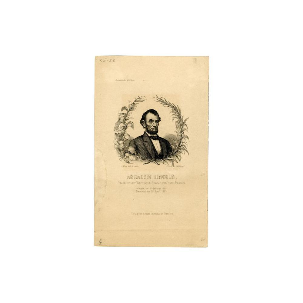 Image: Abraham Lincoln, Prasident der Vereinigten Staaten von Nord-Amerika