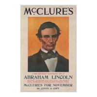 Image: Poster for McClure's New Life of Abraham Lincoln