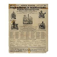 Image: Lincoln Memorial Album-Immortelles broadside