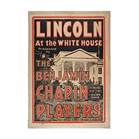 Image: Lincoln at the White House poster