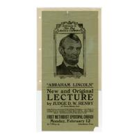 Image: Abraham Lincoln: New and Original Lecture