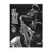 Image: Set Yourself Free: The First Annual Abraham Lincoln Jazz Party  poster