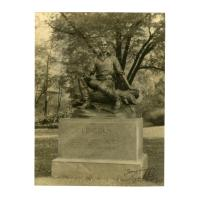 """Image: Photograph of """"Young Lincoln"""" statue in Buffalo, New York"""