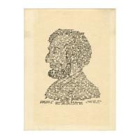 Image: Calligraphic portrait of President Abraham Lincoln