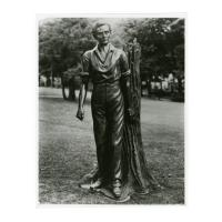 Image: Young Lincoln statue at Ripon College photograph