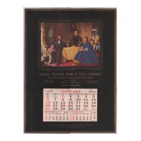 Image: 1952 Lincoln National Bank & Trust Company wall calendar