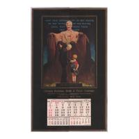 Image: 1951 Lincoln National Bank & Trust Company wall calendar
