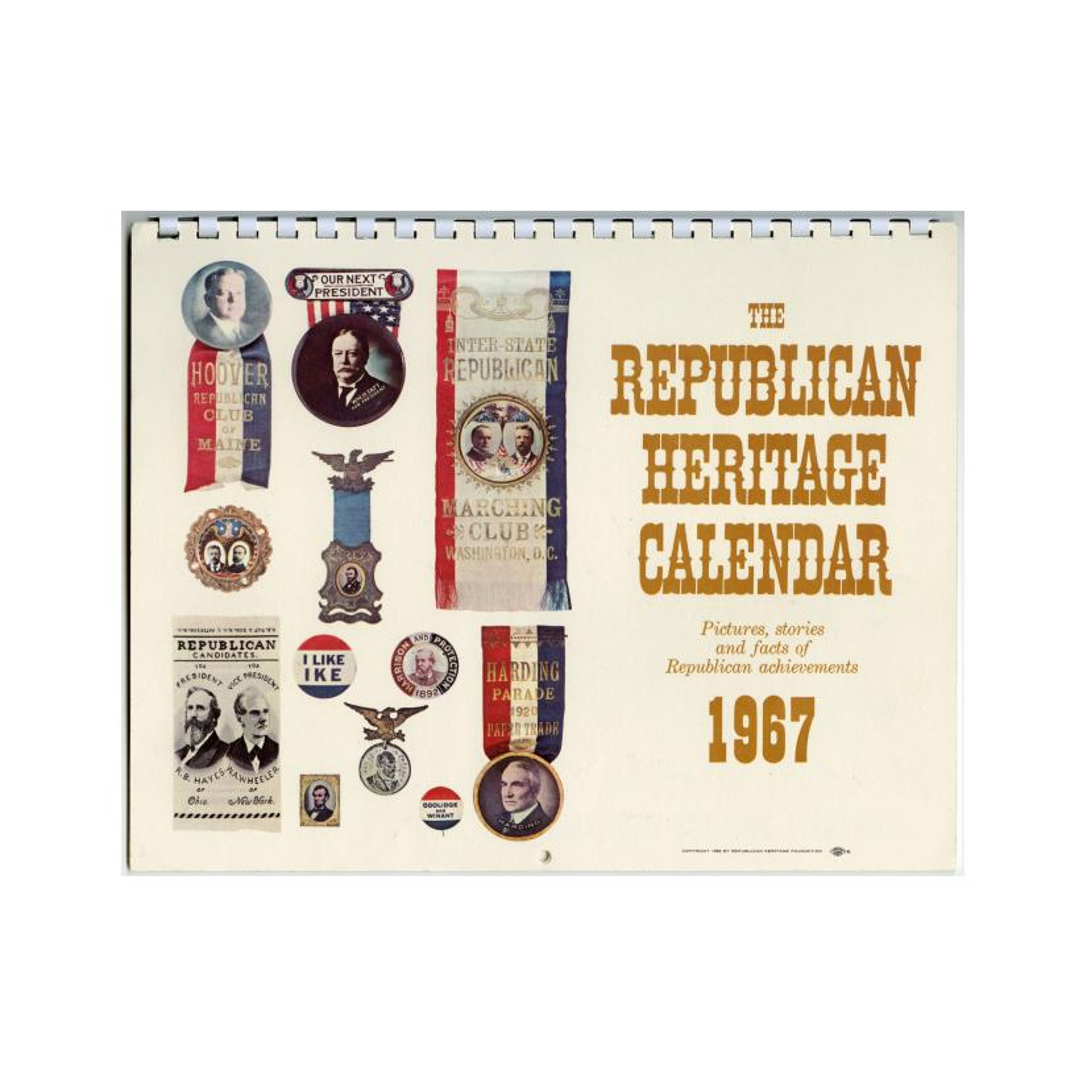 Image: 1967 Republican Heritage Calendar