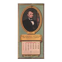 Image: 1941 Wall Calendar for Lincoln National Life Insurance Company