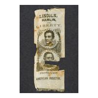 Image: Lincoln, Hamlin and Liberty campaign ribbon