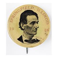 Image: Springfield, Illinois 1928 button