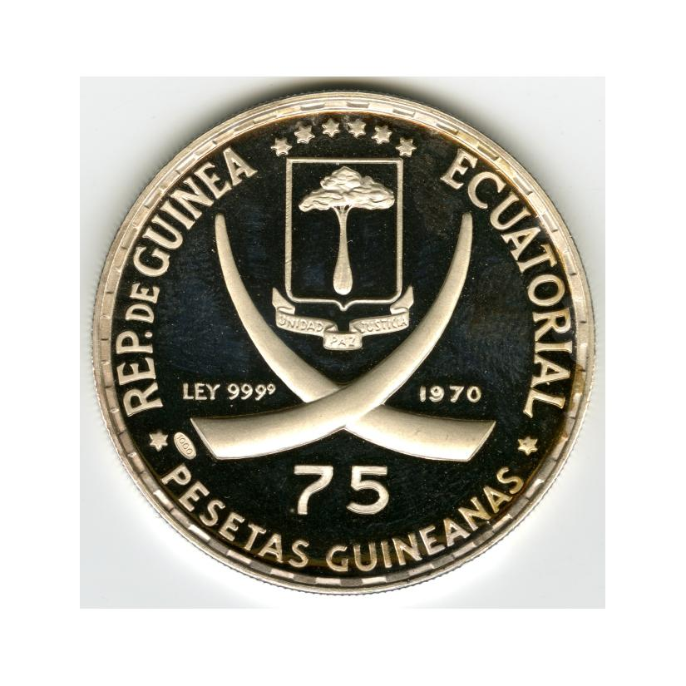 Image: 75 Pesetas Guineanas Commemorative Coin